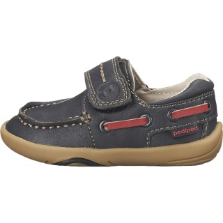 Тъмно сини кожени мокасини Pediped® Norm Navy
