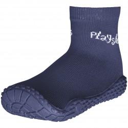 Сини чорапи с гумена подметка