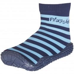 Чорапи с гумена подметка Blue stripes
