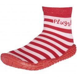 Чорапи с гумена подметка Red stripes