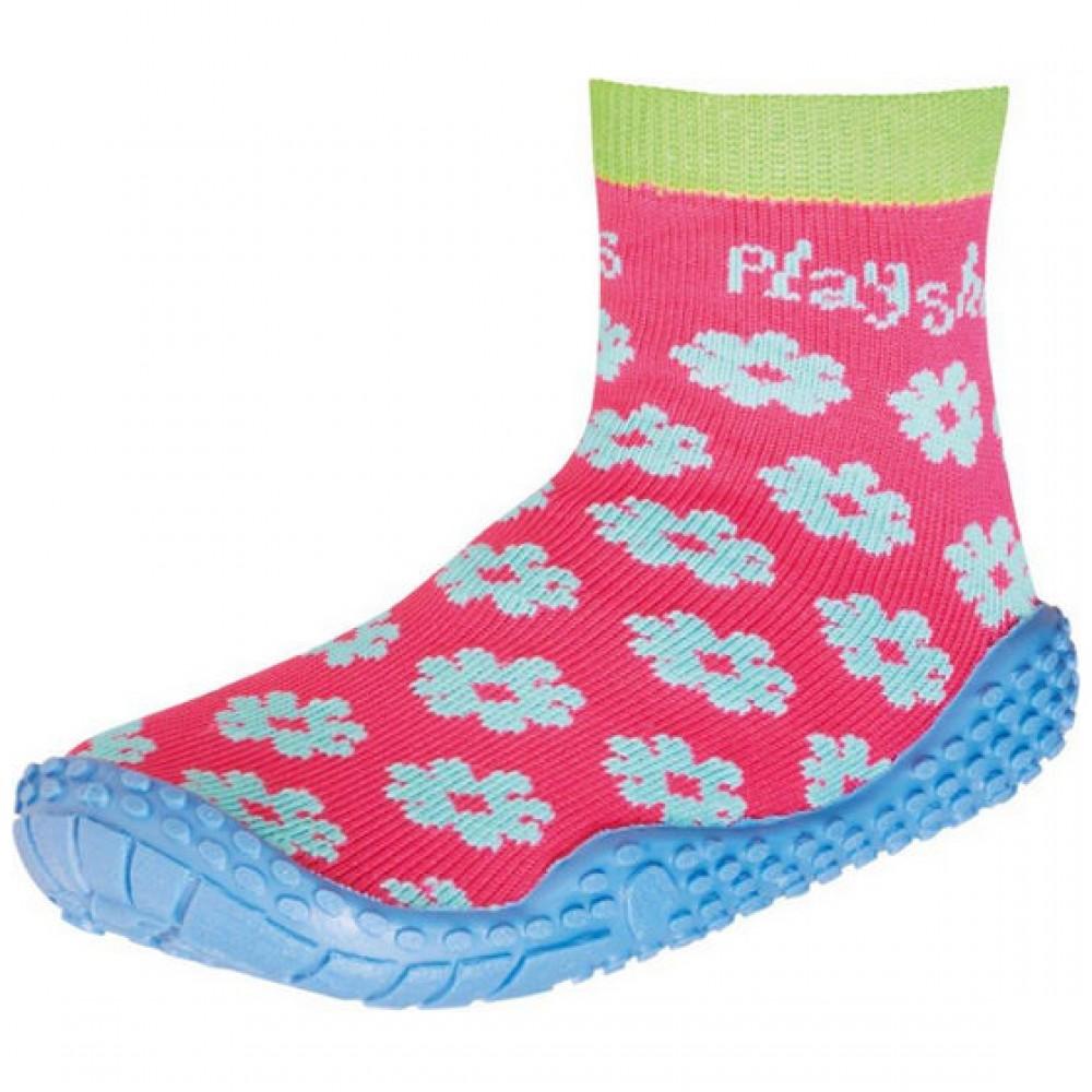 Чорапи с гумена подметка Flowers
