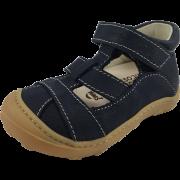 Тъмно сини кожени сандали с бели шевове Pepino by Ricosta Lani
