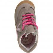 Кожени обувки пепел от роза с бели елементи Ricosta Pamy