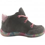 Сиво розови обувки с декорация клоун и цветна подметка