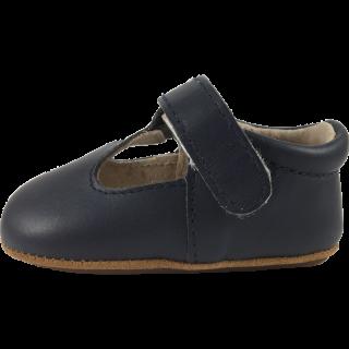 Тъмно сини изчистени кожени обувки