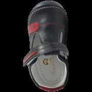 Бебешки сандали със затворени пръсти Navy T-strap