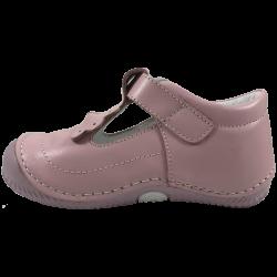 Розови бебешки сандали с панделка и затворени пръсти Bow Pink