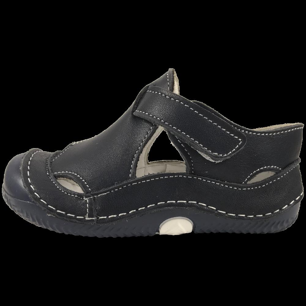 Сини кожени сандали Plain Navy