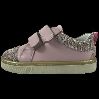 Розови кожени обувки с брокат Candy Sprinkle
